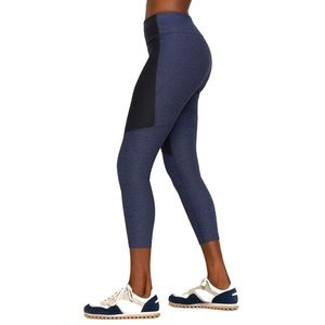 Outdoor Voices Two-Tone Leggings Navy Charcoal